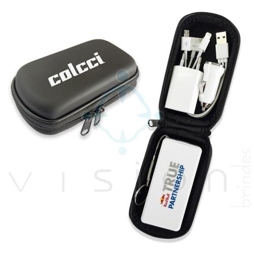Kit Powerbank / Carregador Portátil USB