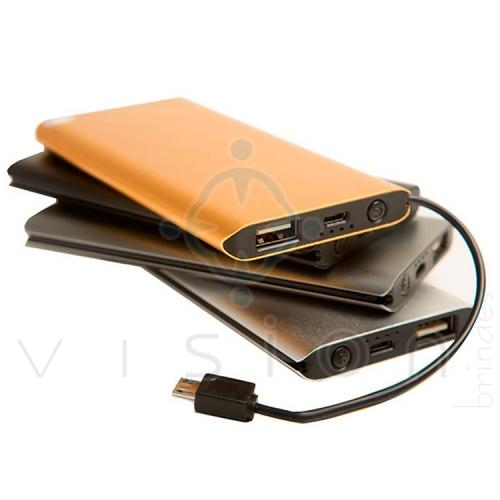 Carregador Portátil Power Bank Slim Metal 3000mAh